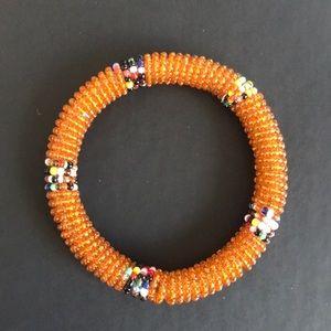 Jewelry - NWOT Chunky Seed Bead Bangle Bracelet